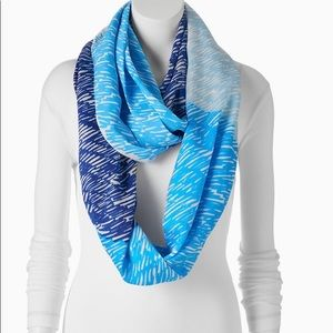 REED scribble infinity scarf. Lightweight summer